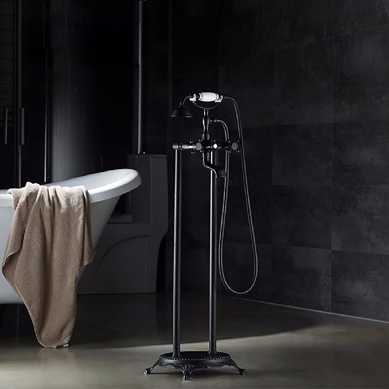 YFF@ILU Antike Dusche, alle - Kupfer retro Schwarz, Europa heie und kalte Dusche, Badewanne Armatur