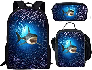 shark backpack with lunchbox