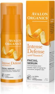 Avalon Organics Intense Defense Facial Serum, 1 oz. (Pack of 2)