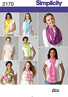 Simplicity Womens Scarves, 8 Variations Designed by Andrea Schewe for Simplicity Pattern 2170