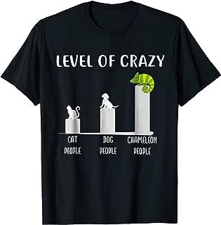 Level of Crazy Veiled Chameleon T Shirt, Chameleons Shirt
