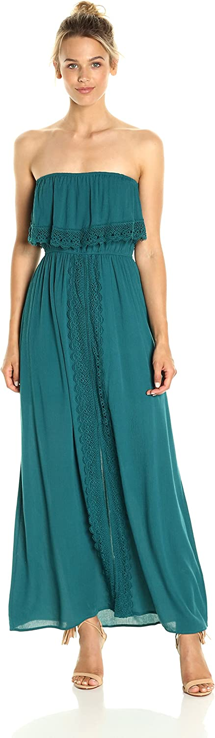 Taylor & Sage Womens Off The Shoulder Maxi Dress with Lace Trim Dress
