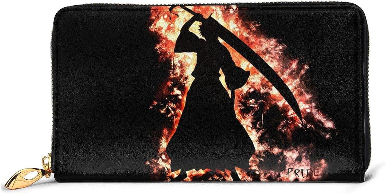 Junction Louisville-Jefferson 67% OFF of fixed price County Mall Bleach Leather Wallet Minimalist Wallets Men Women For