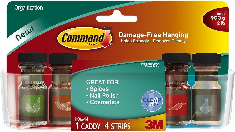 Command Medium Caddy, Clear (4 Caddies)