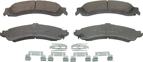 Wagner ThermoQuiet QC975 Ceramic Disc Pad Set With Installation Hardware, Rear