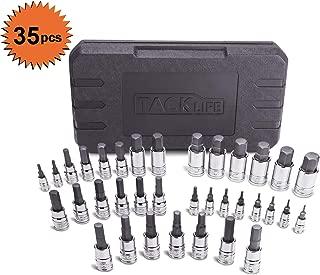TACKLIFE Master Hex Bit Socket Set, 35-Piece Allen Socket Set, 1/4