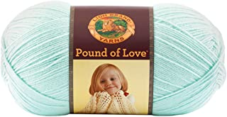 Lion Brand Yarn 550-156A Pound of Love Yarn, One Size, Pastel Green