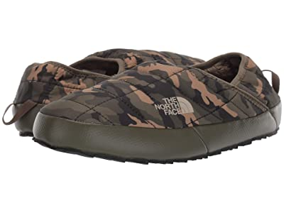 The North Face Thermoball Traction Mule V (New Taupe Green/Burnt Olive Green Woodland Camo Print) Women