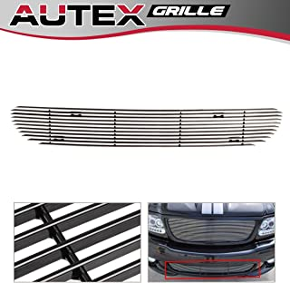 AUTEX Horizontal Billet Grille Insert Compatible with Ford F150 1999-2003 Lightning Lower Bumper Grill F85384A