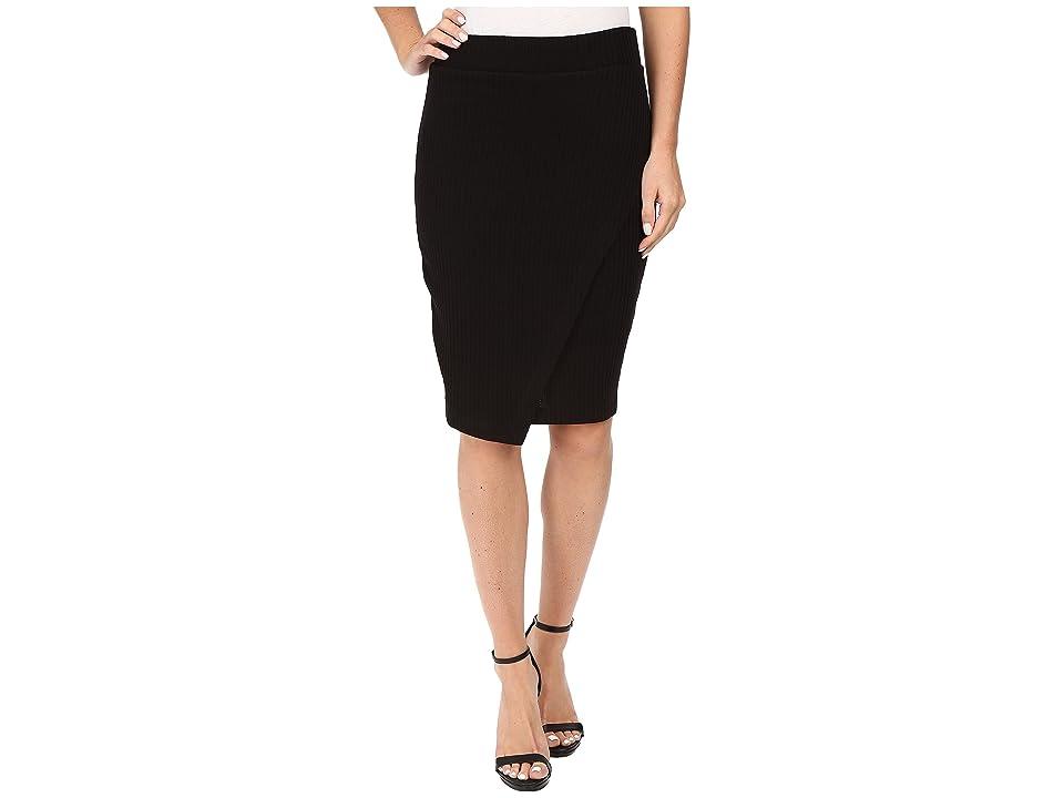Splendid Sylvie Rib Skirt (Black) Women