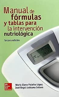 MANUAL DE FORMULAS Y TABLAS PARA INTERVENCION NUTRIOLOGICA 3'ED