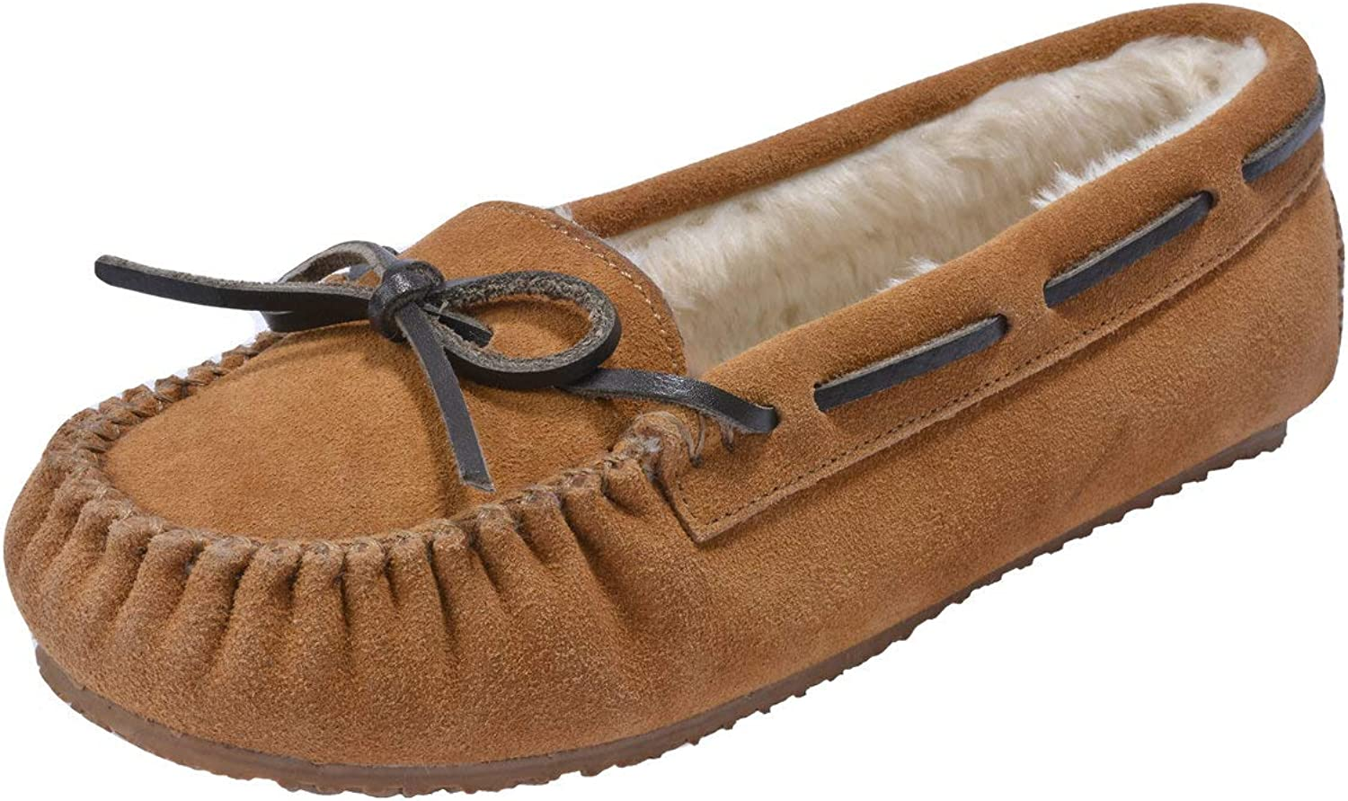 MOC PAPA Women's Cow Suede Moccasin Slip On Flat shoes