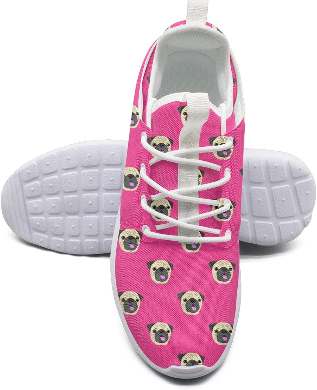 Face Of Pug Dog Women's Fashion Running shoes Casual Mesh Lightweight Tennis Sneakers