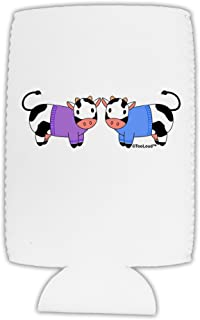 TOOLOUD Cute Pair of Sweater Cows Collapsible Neoprene Tall Can Insulator