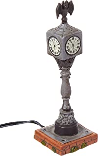 Department 56 Collections Lit Halloween Town Clock Figurine Village Accessory, Multicolor