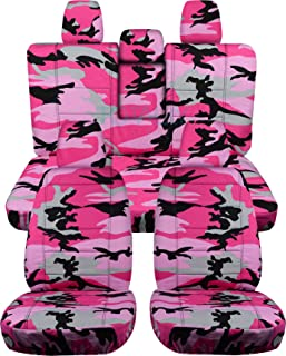 Totally Covers compatible with 2018-2020 Jeep Wrangler JL Camo Seat Covers: Pink Camouflage - Full Set: Front & Rear (19 P...