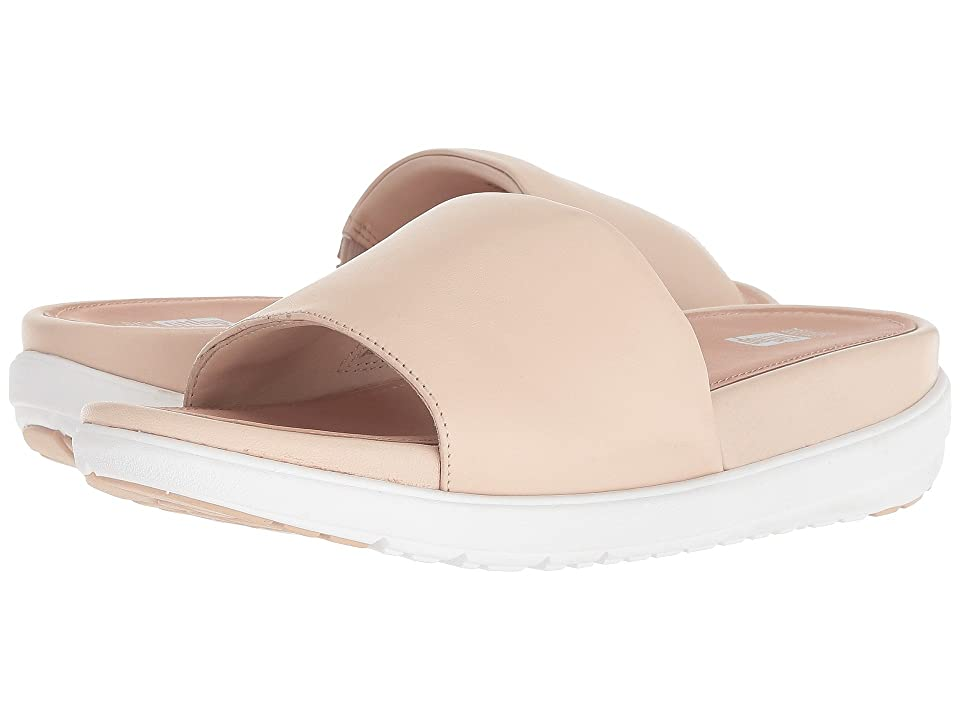 FitFlop Loosh Luxetm Leather Slide Sandals (Nude Leather) Women