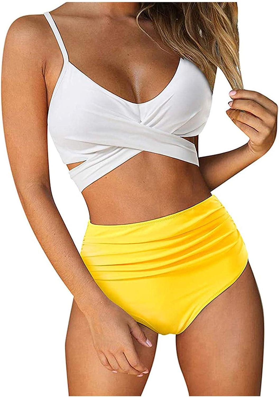 Swimsuit for Women,Sexy Women Bikini Print Bandage Two-Piece Swimwear Swimsuit Beachwear Set