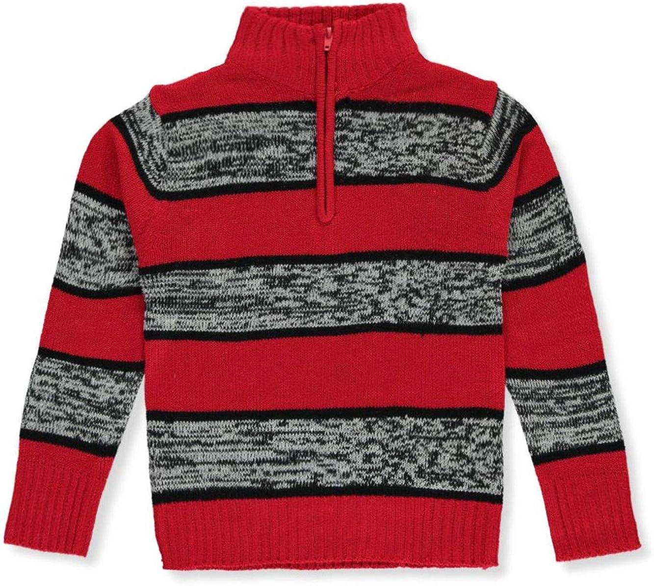 Sezzit Boys Striped Mock Neck Sweater