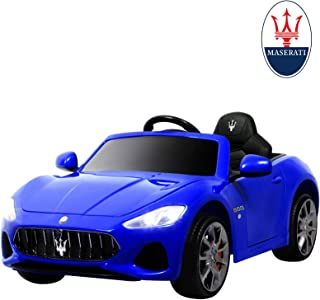 Uenjoy Maserati GranCabrio 12V Electric Kids Ride On Cars Motorized Vehicles with RC Remote Control, Wheels Suspension, MP3 Player, Lights, Blue