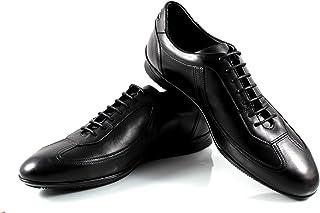 CANNERI Sneaker da Uomo - 8356 - Sneaker Basse Stringate - Scarpe da Ginnastica Basse - Scarpe Casual in Pelle con Design ...