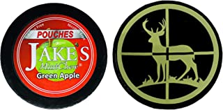 Jake's Mint Chew Green Apple Pouch 1 Can with DC Crafts Nation Skin Can Cover - Deer