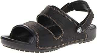 crocs Yukon Two-Strap Men's Sandals, Black (Black/Black), 7 mn/8 womn AU Women's