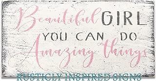 Beautiful Girl You Can Do Amazing Things Girls Nursery Decor