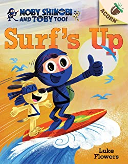 Surf's Up!: An Acorn Book (Moby Shinobi and Toby, Too! #1) (Library Edition), 1