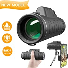 DOTSOG 40X60 High Power HD Waterproof Monocular Telescope,Monocular Scope with Smartphone Holder,BAK4 Prism for Concert Bird Watching Hunting Camping Travelling Wildlife-[2019 Upgraded Version]
