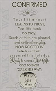 Confirmed Walk His Way Confirmation Pewter Coin with Sentiment Card