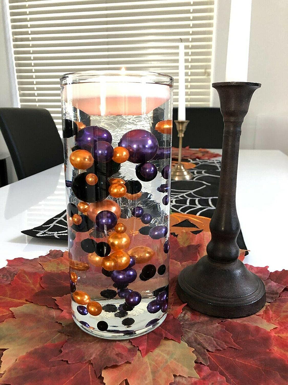 Manato Halloween Table Decors Floating specialty shop Max 71% OFF Pearls No Ho Centerpiece
