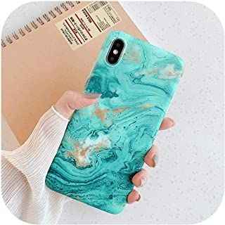 LLYAP for iPhone 12 Mini 11 Pro XR XS Max X 6 6s 7 8Plus耐衝撃マットソフトIMD電話バックカバーギフト用ヴィンテージマーブルケース-e-for iPhone 12 ProMax