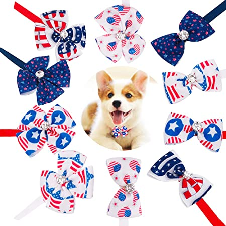 1181 H Patriotic Dog Tag Button Flag Print Set of 2 Two Hole Sew Thru Flat Back