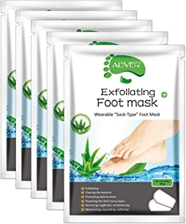 Foot Peel Mask - (5 PACK) Foot Mask for Dry Dead Skin, Callus, Repair Rough Heels - Make Your Feet Baby Soft & Get Smooth ...
