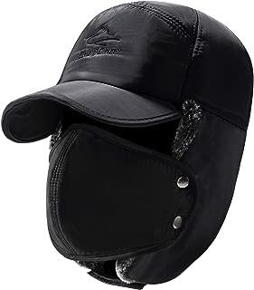 Trooper Trapper Hat Men Women Warm Winter Hats with Ear Flap Faux Fur Hunting Aviator Hat