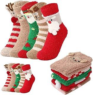 abbx, abbx Calcetines de Navidad,Calcetines de Invierno,Calcetines Térmicos,Navidad Mujer Regalo Calcetines,Felpa Cálidos Calcetines Navidad Regalo Calcetines para Adultos (niño)