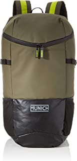 Munich Backpack 1 Outer Kaki, Mochila Unisex Adultos, Verde (Khaki), 18x29x48 cm (W x H x L)