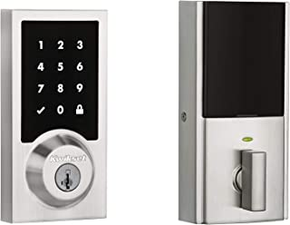 Kwikset 99190-003 Contemporary Premis Touchscreen Smart Deadbolt Door Lock Works with Apple HomeKit Featuring SmartKey Security, Satin Nickel