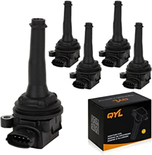5Pcs Ignition Coils Pack Replacement for Volvo V70 C70 S60 S70 XC70 XC90 L5 2.3L 2.4L 2.5L C1258 UF341 UF-341