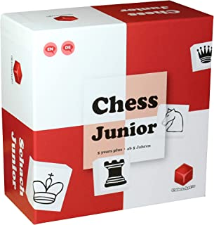 Chess Junior - Awarded Chess Set for Kids, Board Game for Teaching Chess to Kids in a Fun and Lead Back Way, Red