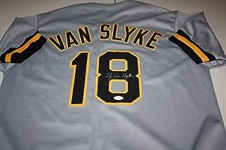 Pittsburgh Pirates Andy Van Slyke #18 Autographed Signed Auto Custom Road Jersey Memorabilia JSA Cert
