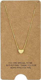 WRISTCHIE Collar de plata de ley 925 con forma de corazón flotante, 45,7 cm