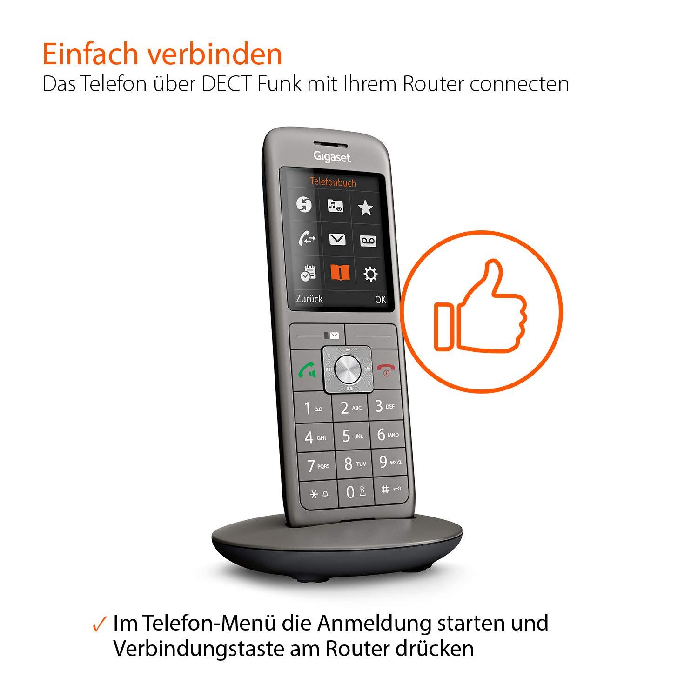 Gigaset CL660HX - Teléfono universal para agregar a Enrutadores DECT / GAP, Enrutadores con DECT CAT-iq 2.0 / 2.1, Gris: Amazon.es: Informática