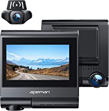 APEMAN 4K max Dash Cam with 3.2 Inch OLED Touch Screen, Built-in GPS, Wi-Fi, Both 1080P Front and Rear Dual Dash Camera for Cars with Sony Sensor, Parking Mode, Motion Detection, G-Sensor