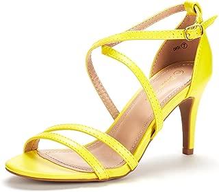 DREAM PAIRS Women's Fashion Stilettos Open Toe Pump Heeled Sandals