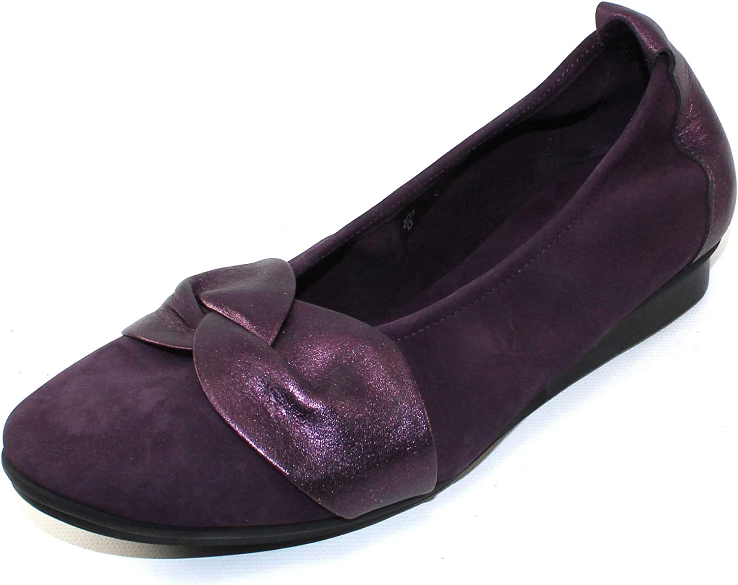 Arche Women's Ninika in Muscat Nubuck Shade Metallic Leather - Eggplant - Size 42 M