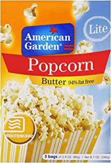 American Garden Microwave Butter Lite Popcorn, 80 gm