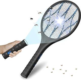 UGHEY Antimosquitos Recargable Raqueta Matamoscas Electrica , Mata Mosquitos Electrico, Kill Poli...