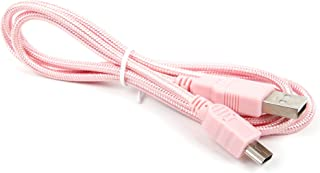 DURAGADGET Pink Mini USB Cable - Suitable for Use with Tomtom Start 25 Europe Traffic Navigations System & Via 130